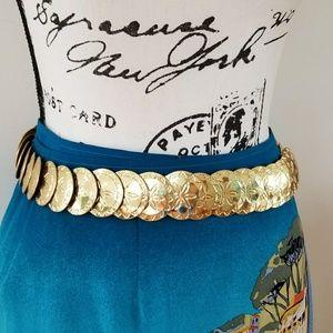 Accessories - Gold coin sand-dollar belt